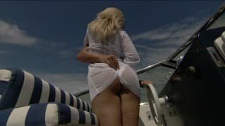 A horny ride on the boat for this sexy couple