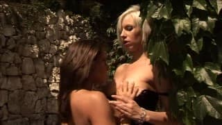 Two blond beauties are prepared to have lesbian sex