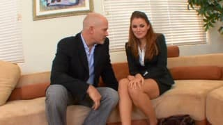 Allie Haze uses her sexual talents in a job interview