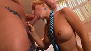 Secretary gives great sex to her boss