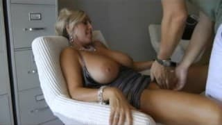 Mature blonde fills her man with pleasure