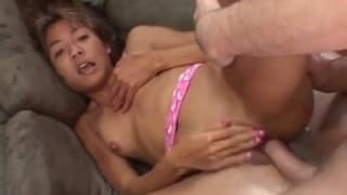 This young lady is hungry for hard cock