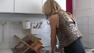 Mature Blonde woman just wants it hard and fast in the ass
