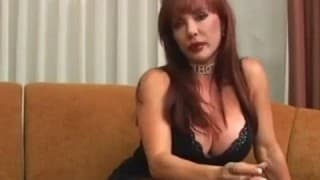 Mature Elegant busty red head gets screwed