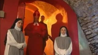 Priest blesses two curious nuns with his cock