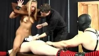 Two restricted sluts take sexual punishment in bondage scene