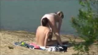 Couple think they are alone to fuck....but they're not..!!!!