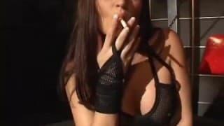 Bondage and punishment for emo looking slut
