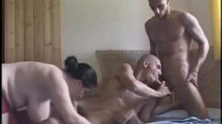 Bi- sexuals share a round chubby momma