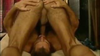 When two DILFs suck their own dicks