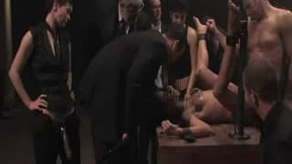 Extreme sex session with several watchers