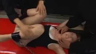 Extreme bondage and submissive sex
