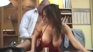 So much better to fuck the boss on his desk at work
