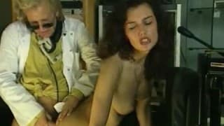 Vintage porn with a hairy brunette