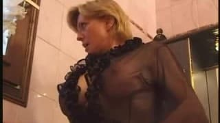 Milf sodomizes the gardener