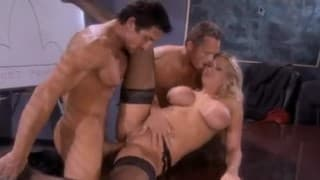 Alanah Rae is a very sensual secretary in this threesome