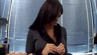 Fuck in POV in  her office