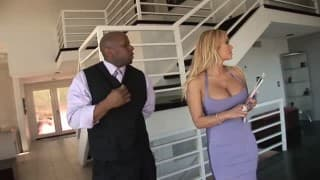 A black guy takes care of Shyla Stylez