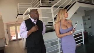 A black guy takes care of Shyla Stylez