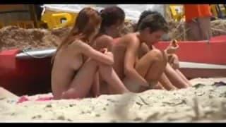Hidden camera at nudist beach