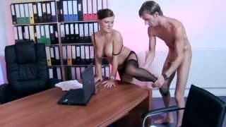 A secretary fucking with her boss