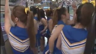 A Bus full of sexy sweating cheerleaders