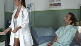 Nurse loves banging on the examination table