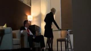 Classy blonde dictate's the sex with mature guy