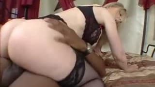 Fudge packing busty blondes asshole