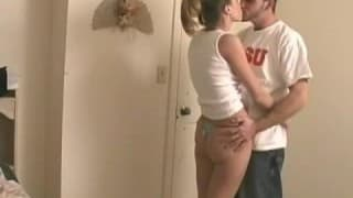 "Young College Couple Fucking Together"">"