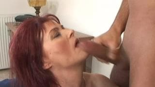 Pussy Burning a Mature Redhead