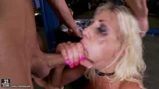 BRUTAL Hard bondage Fucking Blonde
