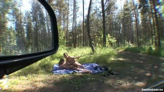 Hidden Camera for Forest Fucking Couple