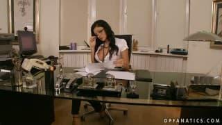 SECRETARY..!! Aletta Ocean is the Office Slut