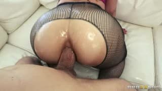 Pantyhose wearing Slut Fucked in the Ass