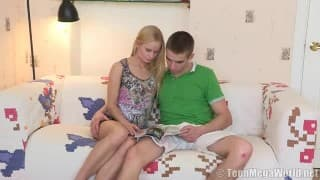 Young Natural Blonde Fucks Boyfriend