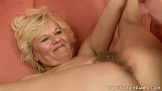 A mature and hairy blonde is up for some hard screwing