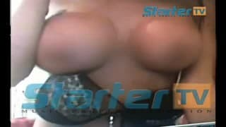 Nabilla - Naked in front if her webcam!
