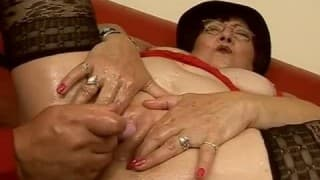 Old lady gets nailed