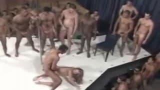 Brazilian style gang bang