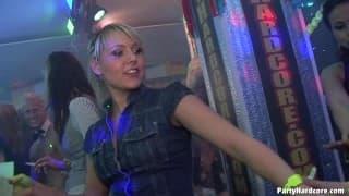 Big orgy in the nightclub!