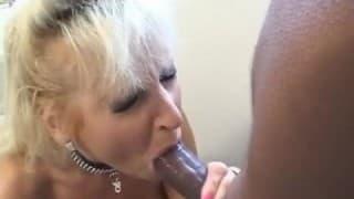 Greedy slut for a black cock