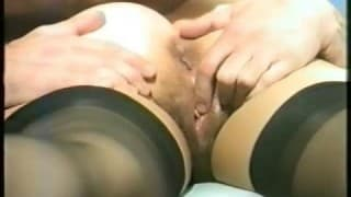 Vintage- Hairy slut sucks