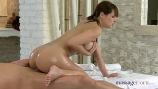 Big boobs masseuse for a masturbation