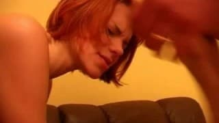 This little redhead didn't know about threesome!