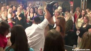 Crazy orgy in a nightclub!