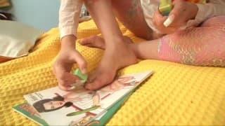Alice masturbates with a bottle of nail polish