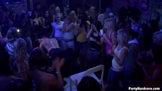 Little sluts fucking in a nightclub