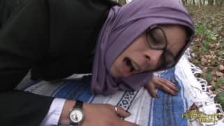 Arab with glasses fucked outdoor