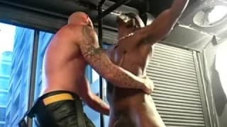 A black guy gets his ass pounded